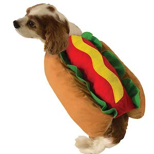 Hot Dog Wiener Bun Costume for Dogs