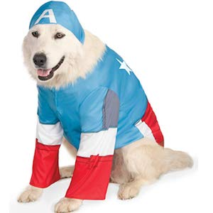 Marvel Captain America Dog Garment