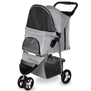 Paws & Pals 3 Wheeler Folding Dog Stroller