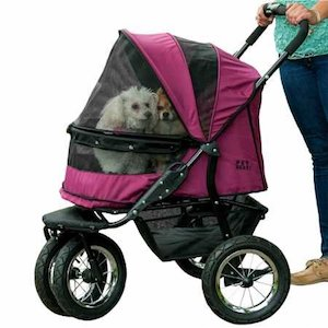Pet Gear NO-ZIP Double Pet Stroller for Dogs