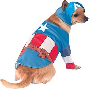 Captain America costume for chihuahua