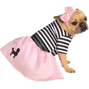 Rubie's Pink Fifties Girl Dog Costume