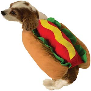 Cute Hot Dog Pet Costume Dog Cat Wiener Bun Halloween