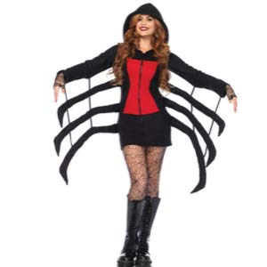 Women's Cozy Black Widow Spider Halloween Costume