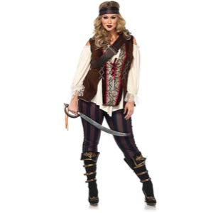 Women's Plus Size Pirate Captain Costume