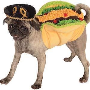 Rasta Imposta Taco costume for dogs