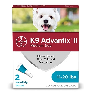 K9 Advantix II Flea, Tick & Mosquito Prevention for Medium Dogs