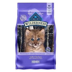Blue Wilderness High Protein Grain Free Kitten Dry Cat Food