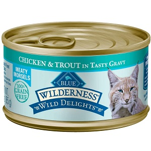 Blue Wilderness Wild Delights High Protein Grain Free Wet Food for Cats