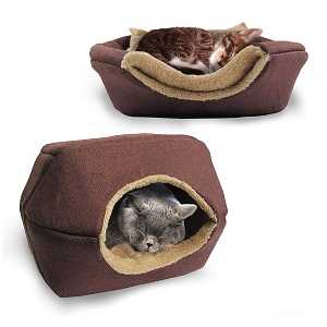 Bow Meow PREMIUM 2-in-1 Foldable Cat Bed