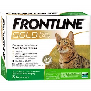 Frontline Gold Flea and Tick Control for Cats