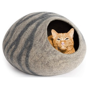 MEOWFIA Merino Wool Cat Bed Cave