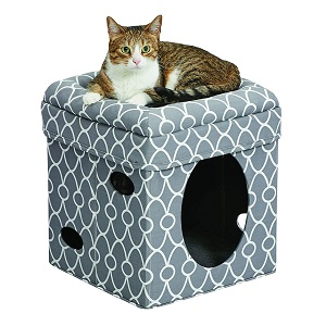 MidWest Curious Cat Cube Cat House & Condo