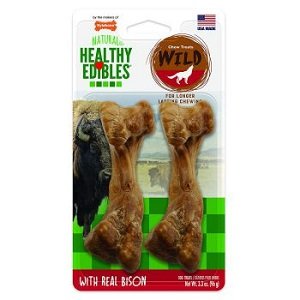 Nylabone Healthy Edible Dog Toys Wild Flavor Bones