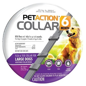Pet Action Flea Tick Collar for Large Dogs