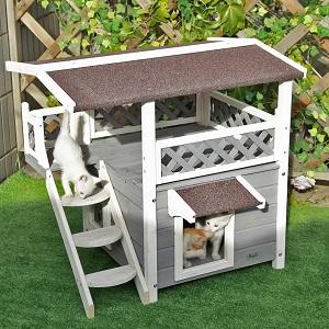 Petsfit 2-Story Cat House-Condo-Shelter