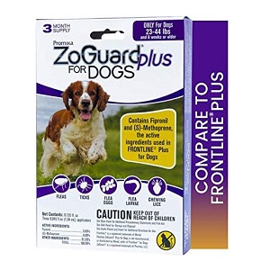 ZoGuard Plus Flea and Tick Prevention for Medium Dogs