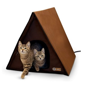 KH Pet Products Heated Outdoor Multi Kitty House